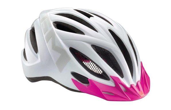 Шлем MET с розовым козырьком