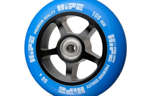 Колесо для самоката 100 мм HIPE 88A ABEC 9 синее