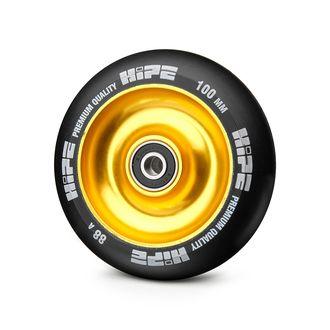 Колесо для самоката 100 мм HIPE 88A ABEC 9 желтое